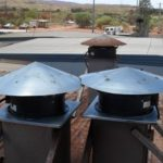 Roof mounted kitchen exhuast fan type
