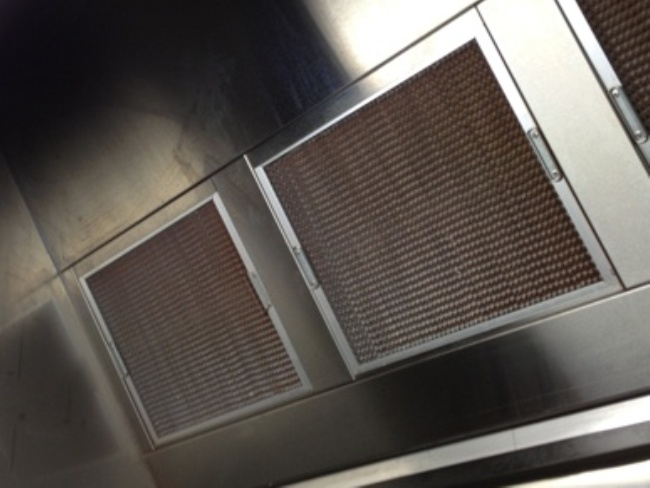 Honeycomb kitchen exhaust filters (slide into the hood)