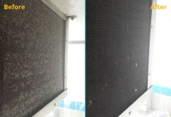 Cool Room Coil Before After
