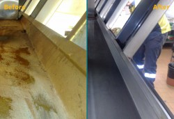Commercial kitchen cleaning chamber Before After